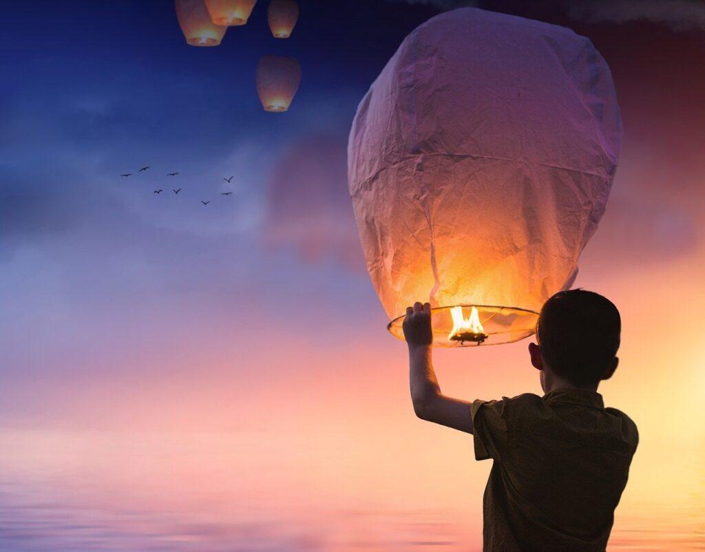 lasciare andare baloon